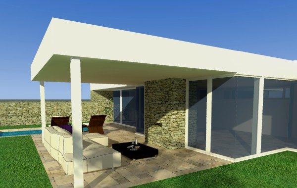 Přístavba vily